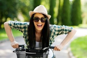 Smil når du cykler og ta en omvej en gang i mellem :-)