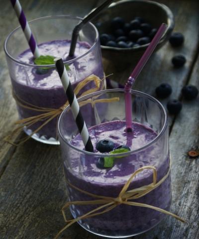blåbær proteinsmoothie 1